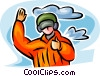 Air force personnel giving thumbs up Vector Clipart picture