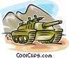 Vector Clip Art graphic  of a Tanks