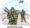 Vector Clip Art picture  of a Marines