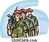 Marines marching in formation Vector Clip Art graphic