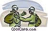 Marines giving thumbs up Vector Clipart picture