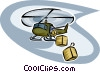 Vector Clipart illustration  of a Helicopters