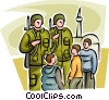 Vector Clipart illustration  of a Marines