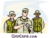 Vector Clipart graphic  of a Reporters
