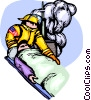 Vector Clipart picture  of a Firemen