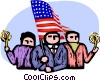 Vector Clipart graphic  of a Independence Day