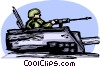 Vector Clip Art picture  of a Tanks