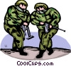Marines loading their guns Vector Clip Art picture