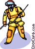 Vector Clipart illustration  of a Firemen