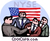 Investors at the New York stock exchange Vector Clip Art picture