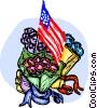 Vector Clipart picture  of a Independence Day