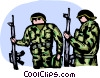 Marines ready for battle Vector Clip Art image