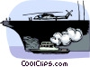 Vector Clip Art graphic  of a Navy