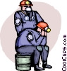 Vector Clipart graphic  of a Firemen