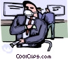 People wearing masks Vector Clip Art picture