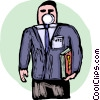 Businessman wearing protective mask Vector Clipart image