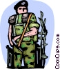 Vector Clipart image  of a Marines