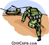 Vector Clipart graphic  of a Marines