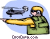 Vector Clip Art graphic  of an Airforce