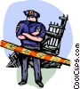 Officers of the Law and Police at ground zero Vector Clipart illustration