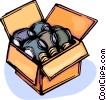Safety Mask Gas Mask in a box Vector Clip Art picture