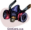 Vector Clip Art graphic  of a Safety Mask Gas Mask
