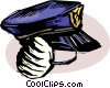 Officers of the Law and Police cap with mask Vector Clip Art picture