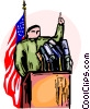 Vector Clip Art image  of a Political Process