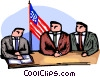 Political Party members having a debate Vector Clip Art picture