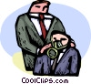 Politicians demonstrating the use of gas masks Vector Clip Art graphic