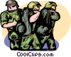 Marines off to battle Vector Clipart image