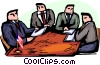 Politicians having a meeting Vector Clipart image