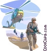 Vector Clip Art image  of a Marines