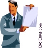 Businessman giving a presentation Vector Clipart picture