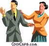 business people shaking hands Vector Clip Art picture