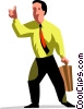 Businessman giving thumbs up Vector Clip Art picture