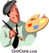 businessman painter Vector Clip Art image