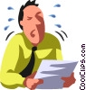 businessman crying Vector Clipart picture