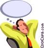 Vector Clipart graphic  of a businessman day dreaming