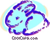 Vector Clip Art graphic  of a Cute bunny rabbit