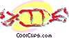 Vector Clip Art image  of a Piece of candy