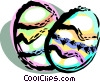 Colorful Easter eggs Vector Clip Art image