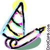 Vector Clip Art image  of a Party hat and noise maker