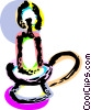 Vector Clipart illustration  of a Candle in holder