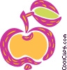 Vector Clip Art image  of an Apple with leaf