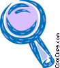 Vector Clip Art graphic  of a Colorful magnifying glass