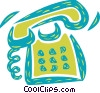 Vector Clip Art image  of a Telephone ringing