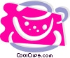 Vector Clipart illustration  of a Teacup