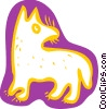 Dog searching Vector Clipart picture