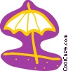 Vector Clipart image  of a Beach umbrella